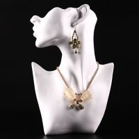 """FEMALE MANNEQUIN/FIGURE 11"""" BUST NECKLACE EARRING JEWELRY ..."""
