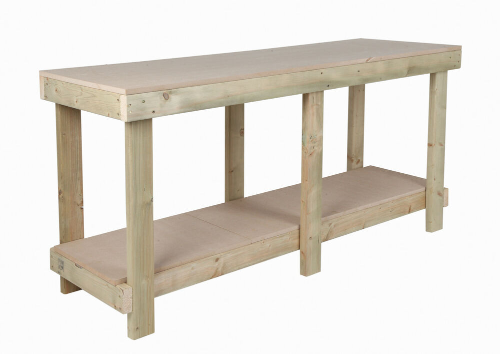 NEW 6 FT WORK BENCH 18 mm MDF TOP WOODEN WORKBENCH HEAVY