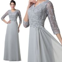 Mother of The Bride Lace Dress Long Formal Pageant Evening ...