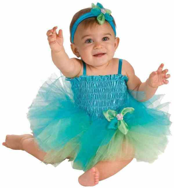 Blue Green Tutu Princess Fairy Cute Fancy Dress Up