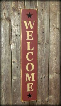 Welcome House Sign, Vertical Welcome Front Door Decor ...