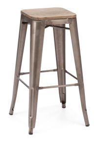 (2 PACK) Industrial Antique Style Metal Bar Stool in ...