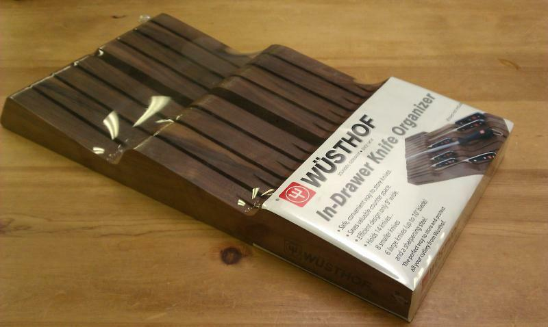 wusthof kitchen knives aid classic mixer in drawer knife organizer 14 slots walnut - new | ebay