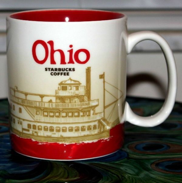Starbucks Ohio Global Icon Collecter Series 16oz Ceramic