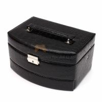 Black Jewelry Box Storage Organizer Case Ring Earring