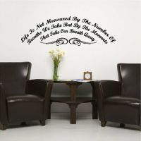 Life Is Not Measured Inspirational Wall Quote Removable ...