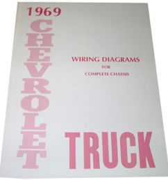 details about 1969 wiring diagrams booklet chevrolet pickup truck [ 1000 x 1000 Pixel ]