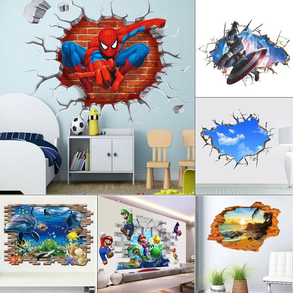 Breakthrough Wall Decals Removable 3d Stickers Kids