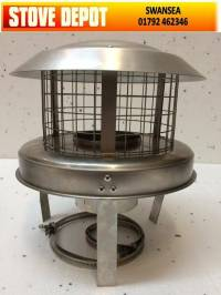 "6"" Stainless Steel CHIMNEY POT HANGER HANGING COWL COWLS"