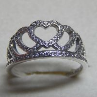 New Authentic Pandora Ring Hearts Tiara Size 56 190958CZ ...