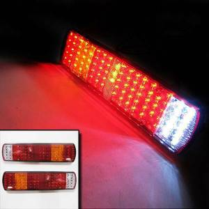 Led Rear Tail Lights Truck Lorry Trailer Fits Iveco Scania