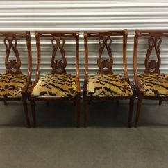 Tell City Chairs Pattern 4526 Desk Chair Mid Century Urban Home Designing Trends Set Of 4 1920 S Carved Mahogany Swan Dining Company