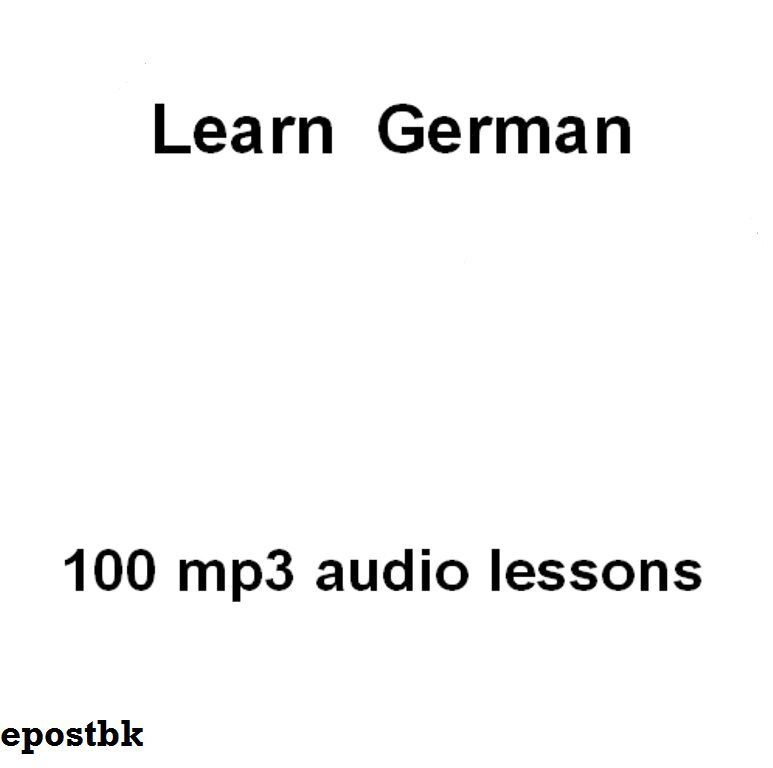 Learn German 100 Lessons Audio Book MP3 CD iPod Friendly