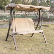2 Person Canopy Swing Glider Hammock Outdoor Patio