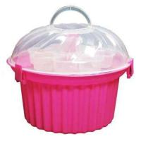 Pink Cupcake Shaped Cupcake Holder with Clear Lid, chabby ...