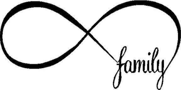 Infinity Family vinyl decal/sticker love forever sign