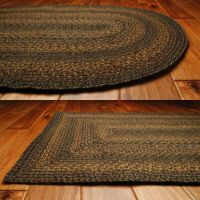 Country Jute Braided Area Throw Rugs Oval Rectangle 20x30 ...