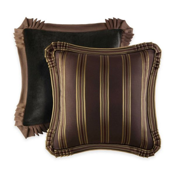 Queen York Coventry Euro Sham Brown Gold