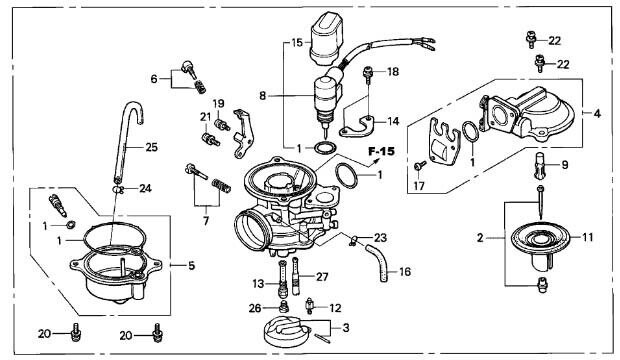 HONDA OEM CARBURETOR ASSEMBLY ELITE 80 1986-2007 CH80 86