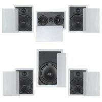 FLUSH IN-WALL CEILING SPEAKERS 5.1 HOME THEATER SURROUND ...