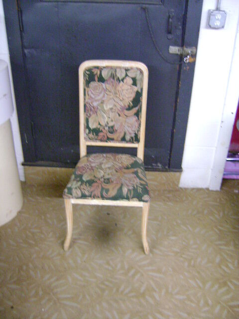 FLORAL UPHOLSTERED HIGH BACK ACCENT CHAIR  eBay