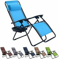 Folding Zero Gravity Reclining Lounge Chairs Outdoor Beach
