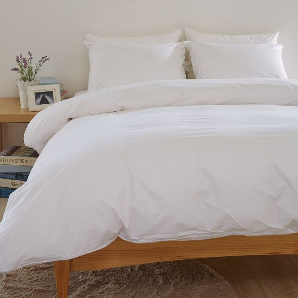 Pure White Duvet Comforter Cover 100 Cotton Feather Proof Classicfabric