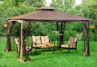 Patio Gazebo Canopy + Mosquito Netting 10x12 Patio Garden ...
