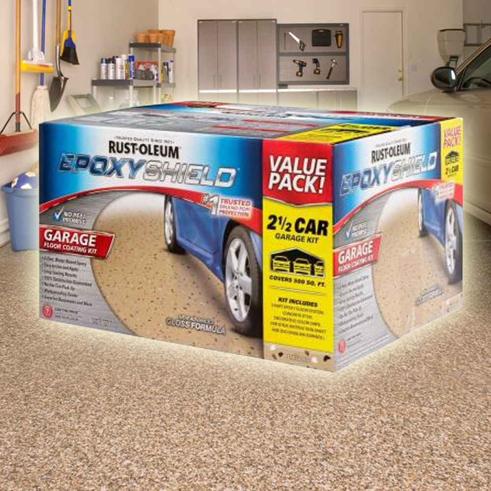 Rustoleum Rust Oleum Epoxyshield Garage Floor Coating Kit