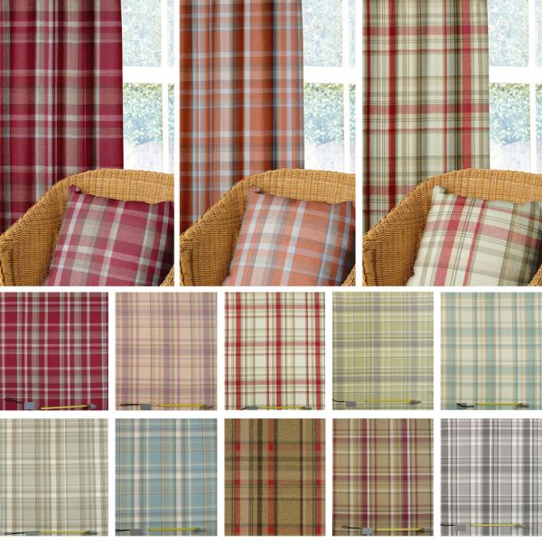 Wool Effect Thick Tartan Harris Plaid Upholstery & Curtain