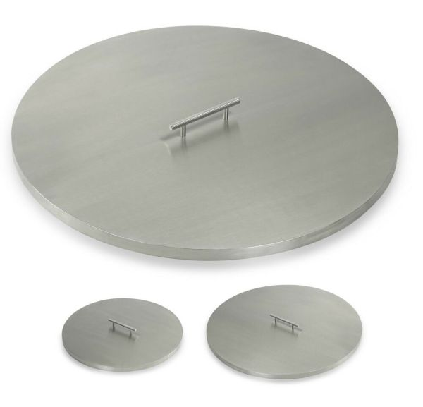 American Fireglass Round Stainless Steel Gas Fire Pit