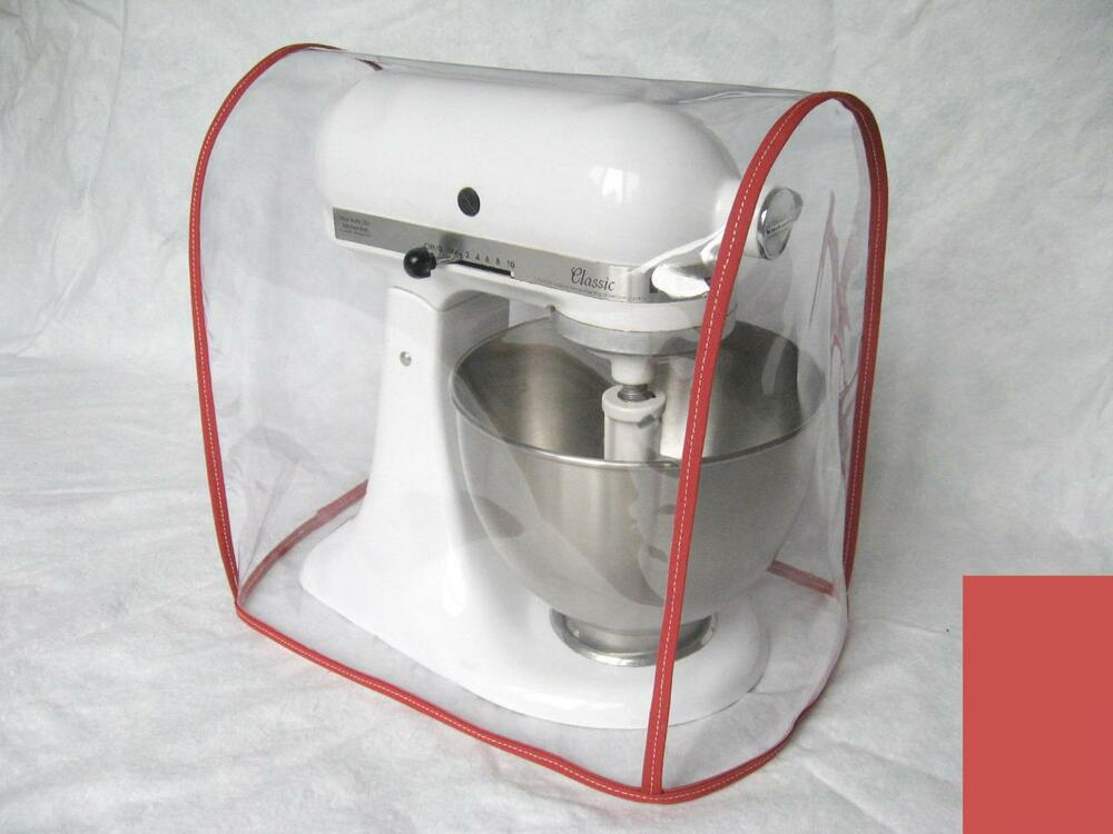 kitchen aid 5 qt mixer lysol cleaner clear cover fits kitchenaid artisan tilt-head - red ...