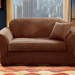 Two Cushion Sofa Slipcover Reclinable 3 Cuerpos Ripley Sure Fit Stretch Pique Separate Seat ...