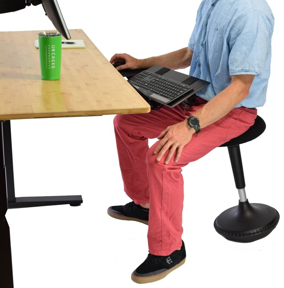 Active Sitting Chair Wobble Stool Adjustable Height Active Sitting Balance Chair Office Stand Desk Ebay
