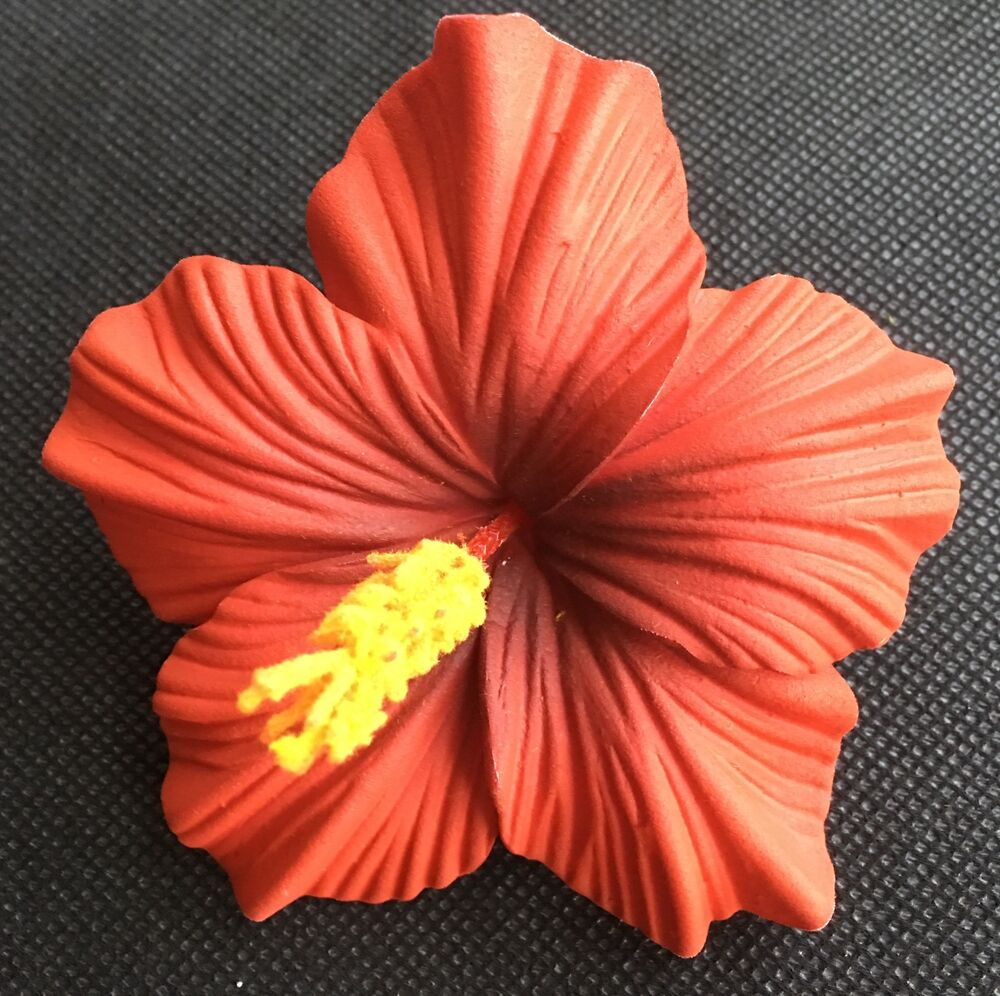 Hawaiian Foam Hibiscus Flower Hair CLIP Aloha RED Wedding
