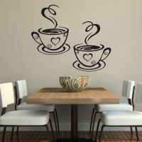 Coffee Cups Cafe Tea Wall Stickers Art Vinyl Decal Kitchen ...