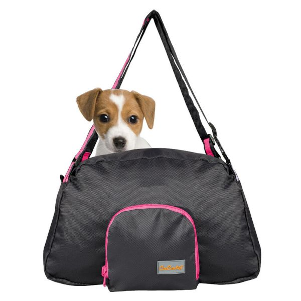 Pink&black Small Pet Carrier Dog Cat Comfort Travel Tote