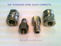 """3/8"""" Stainless Steel Quick Connect Fittings for Pressure ..."""