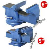 Bench Vise with Anvil Swivel Locking Base Table top Clamp ...