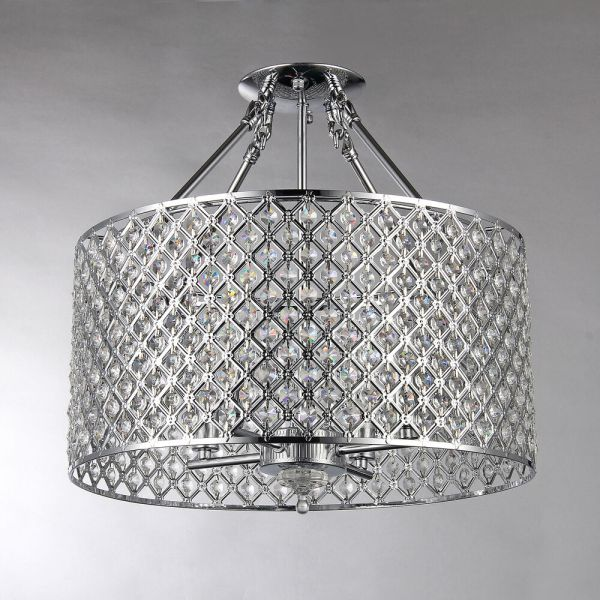 Crystal Semi Flush Mount Ceiling Lights