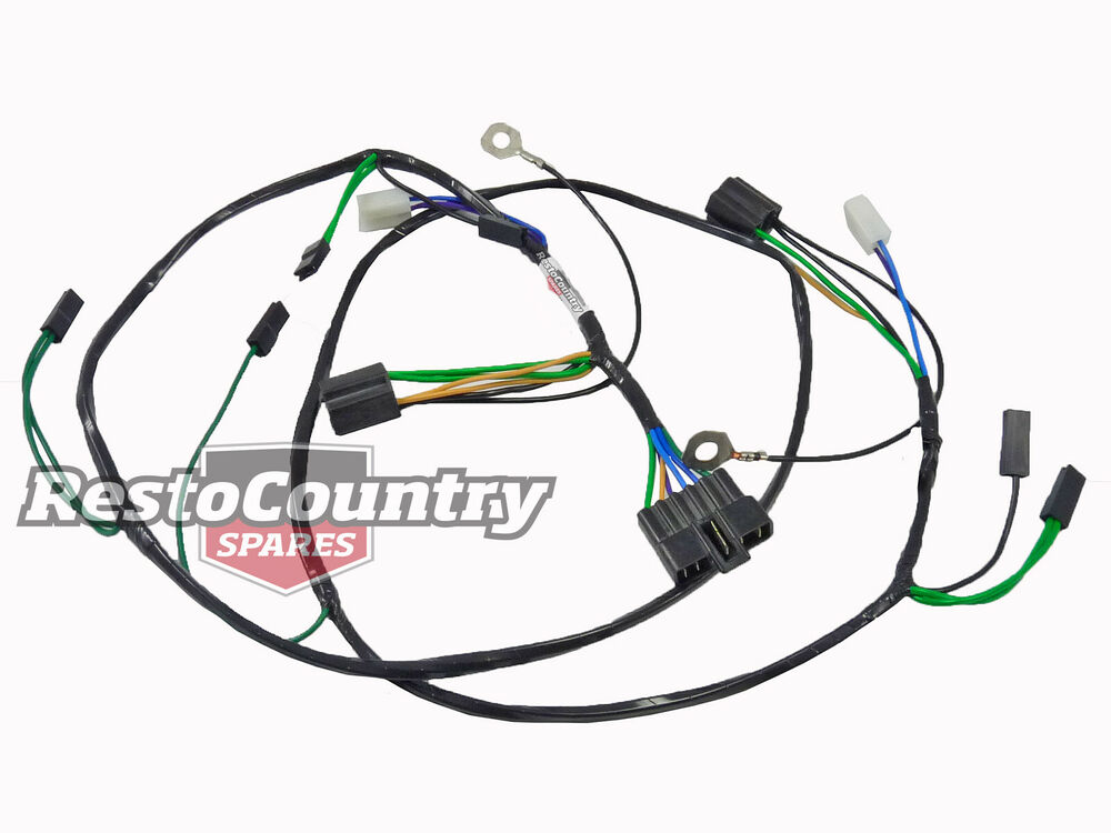 Holden TWIN Headlight +Horn Wiring Loom / Harness HX HZ H4