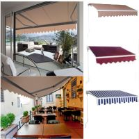 Manual Patio Retractable Deck Awning Sunshade Shelter ...