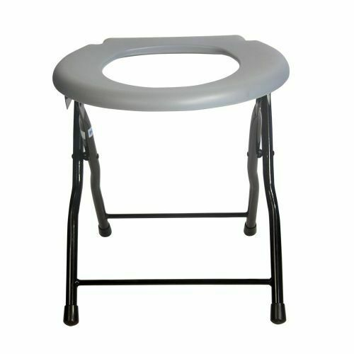best potty chair hon task folding commode toilet steel portable camping seat, 250 pounds capacity | ebay
