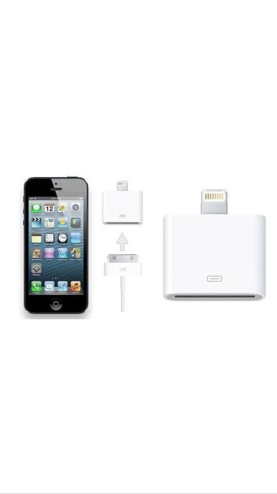 Genuine Apple Lightning To 30 Pin Adapter for iPod IPhone