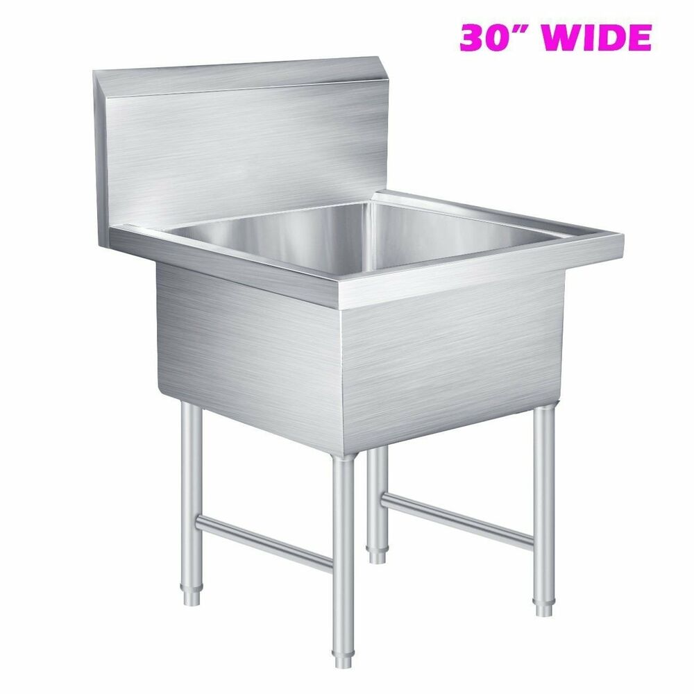 Commercial Stainless Steel Kitchen Prep Utility Laundry