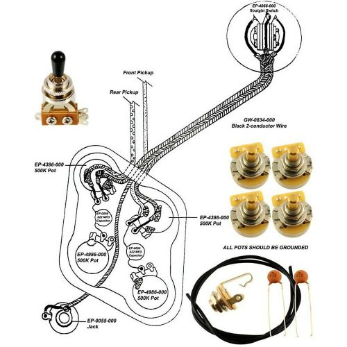 small resolution of epiphone les paul wiring kit with diagram
