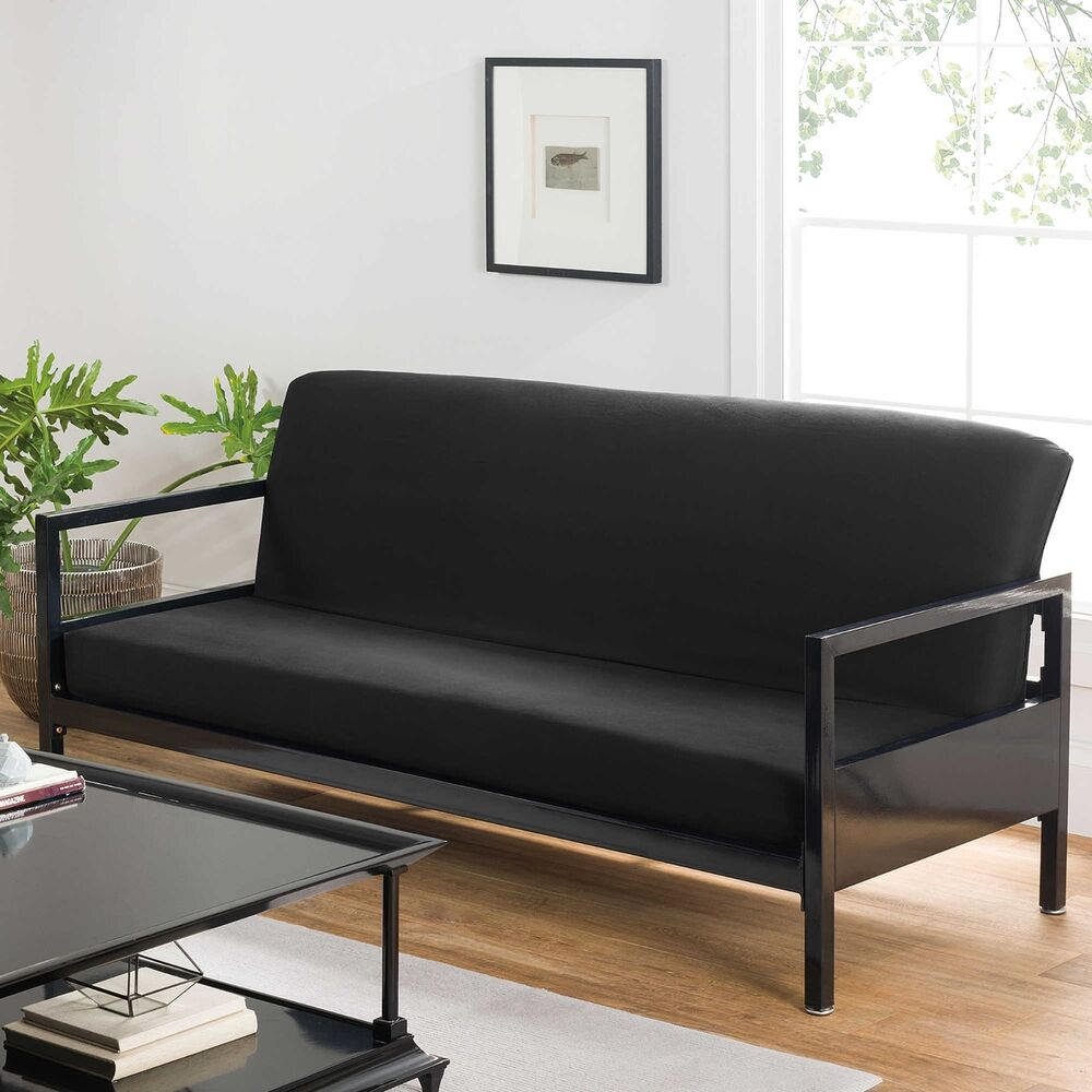 Full Futon Covers Modern Black Soft Cotton Home Bed Sofa