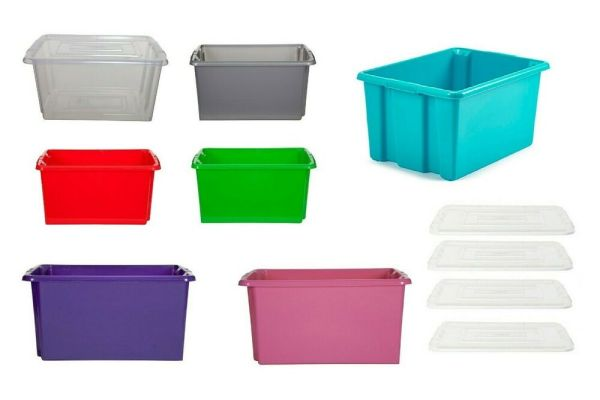 Clear Plastic Storage Boxes With Lid Stackable Stacking