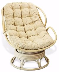 Handmade Rattan Wicker Swivel Rocking Chelsea Papasan ...