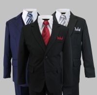 Formal Kids Toddler Boys Suit 5 PC Set With Vest and Tie 2 ...